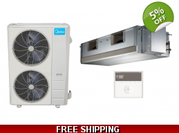 Midea 60000 BTU 18 SEER Ducted Mini Split Heat P..